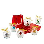 Winter Lane 6-pack Illuminated LED Glass Globes with Gift Bags