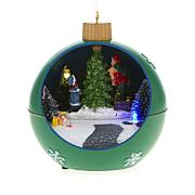 Winter Lane Moving Lighted Ornament - Green