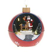 Winter Lane Moving Lighted Ornament - Red