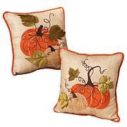 "Winter Lane Set of 2 Harvest Pillows - 14"""
