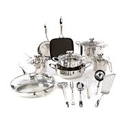 Wolfgang Puck Bistro Elite 19pc Stainless Cookware Set