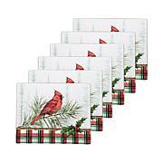Woodland Cardinal Hardboard Placemat 6-Pack