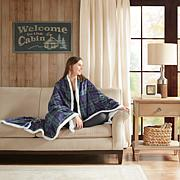 Woolrich Brewster Oversized Mink to Berber Heated Throw Oversized M...