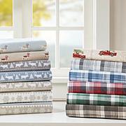 Woolrich Cotton Flannel Brown Sheet Set - Cal King