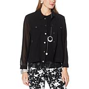 WynneLayers Jean-Style Chiffon Jacket