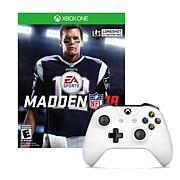 Xbox One White Wireless Controller with Maddon 18 Game