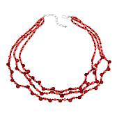 """Jay King Pink and Red Bamboo Sea Coral 20"""" Necklace"""