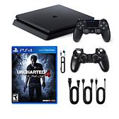 """PS4 Slim 1TB Console with """"Uncharted 4: A Thief's End"""""""