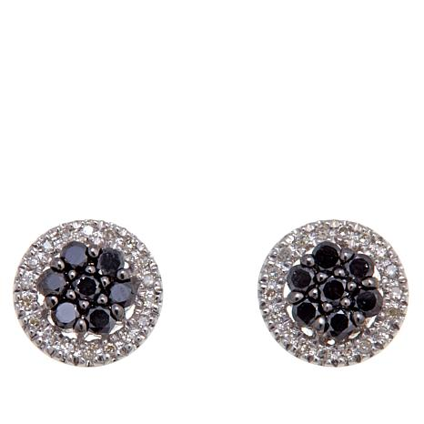 0.40ctw Colored and White Diamond Stud Earrings