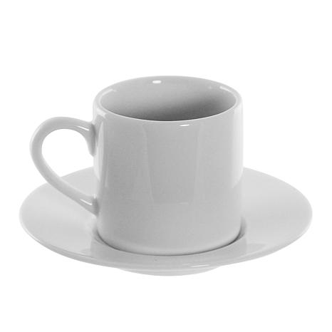 10 Strawberry Street Classic White Demi-Cups & Saucers