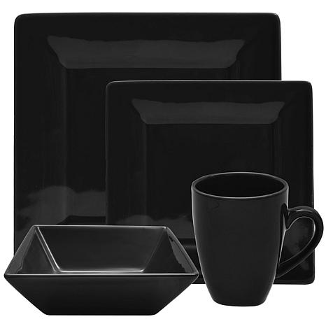 10 Strawberry Street Nova 16-piece Square Dinnerware Set