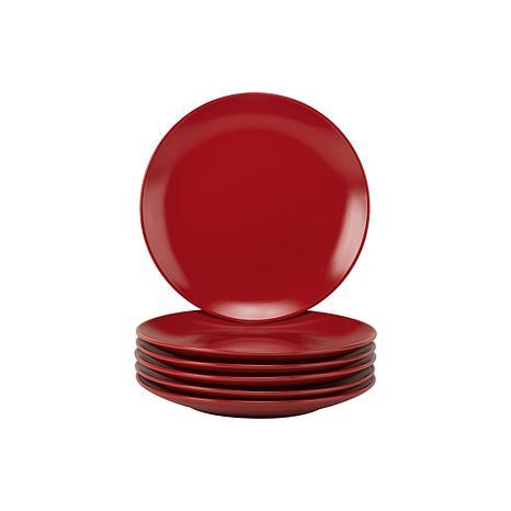 10 Strawberry Street Set of 6 Wazee Matte Salad Plates