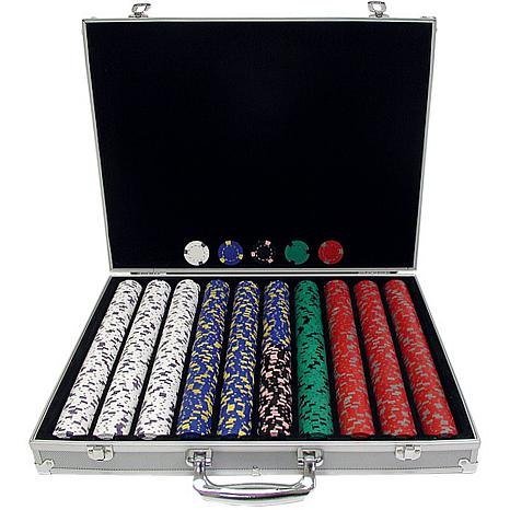 1000 13 Gram Pro Clay Casino Chips with Aluminum Case