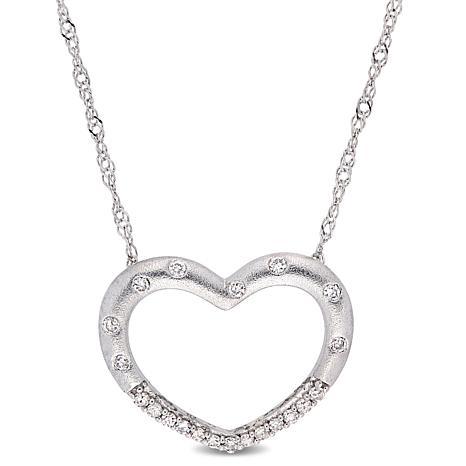 10K Gold .10ctw Diamond Heart Necklace