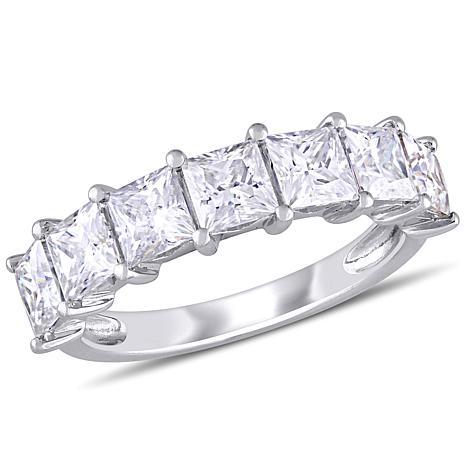 10K White Gold 2.80ctw Moissanite Semi-Eternity Band Ring