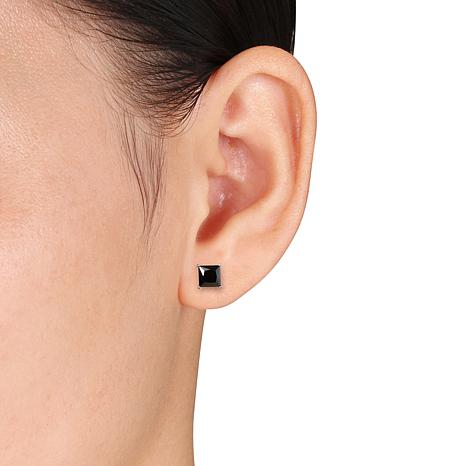 diamond of stud goods groupon earrings deals or black carat gg one ca pair