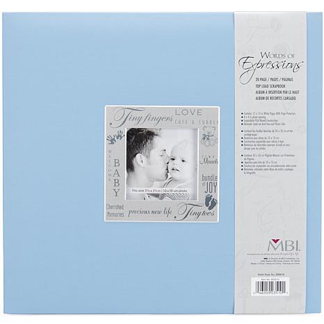 "12"" x 12"" Expressions Post Bound Baby Album - Blue"