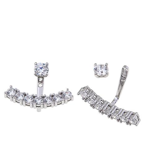 1.34ctw Absolute™ Round Stone Front-to-Back Earrings