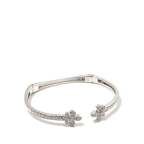 1.34ctw Absolute™ Sterling Silver Fleur-de-Lis Bracelet