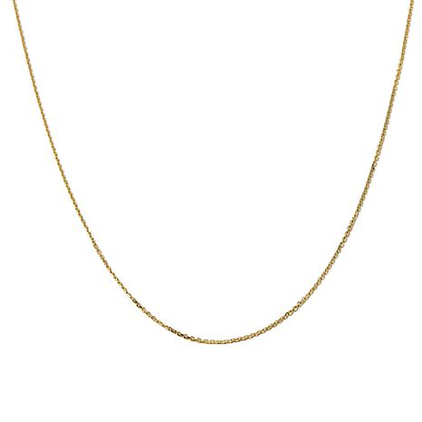 """14K 1.1mm Cable Chain 16"""" Necklace"""