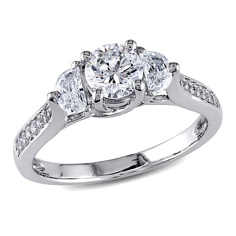 d and moon engagement half white gold rings ring products round diamond