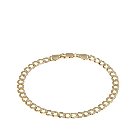 "14K Gold Curb Chain 8-1/2"" Bracelet"