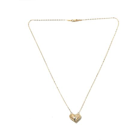 14K Polished Puffed Heart Necklace
