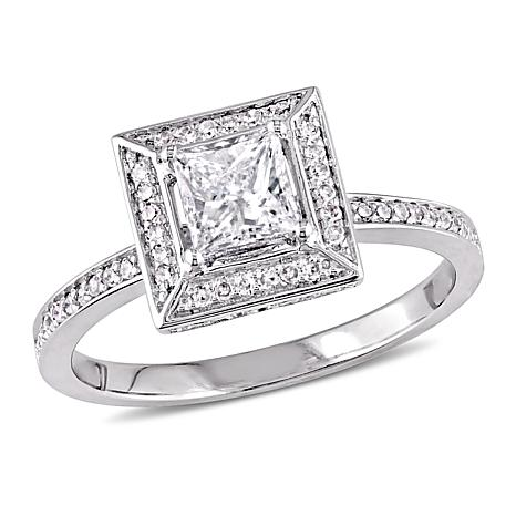 14K White Gold 0.74ctw Diamond Engagement Ring