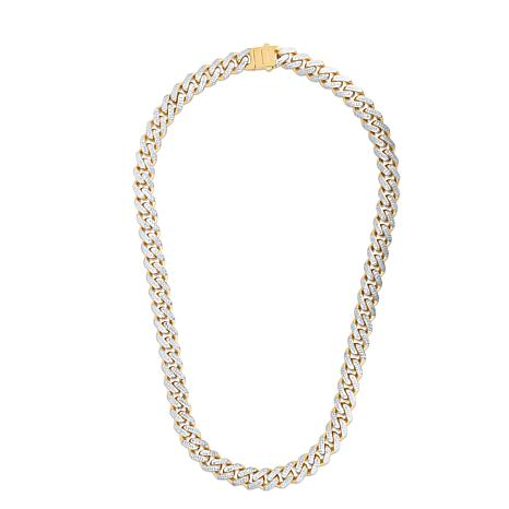 14K Yellow Gold 11.3mm Light Miami Cuban Chain Necklace - 24""