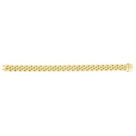 "14K Yellow Gold 11.3mm Polished Lt Miami Cuban Chain Bracelet - 8-1/2"""
