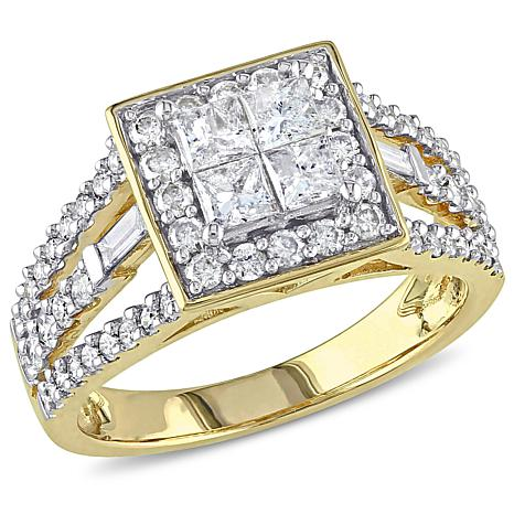 14K Yellow Gold 1.47ctw White Diamond Engagement Ring