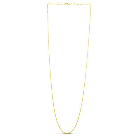 """14K Yellow Gold 1.5mm Diamond-Cut Cable Chain Necklace - 16"""""""