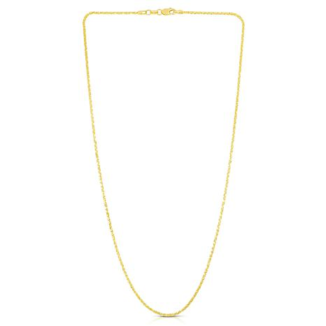 """14K Yellow Gold 1.5mm Sparkle Chain Necklace - 20"""""""
