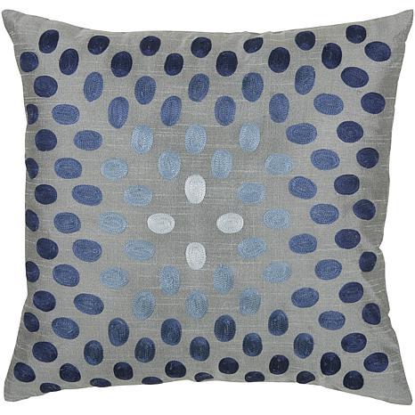 "18"" x 18"" Thumbprint Pillow - Gray/Blue"