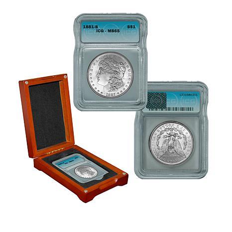 1881 MS65 ICG S-Mint Morgan Silver Dollar
