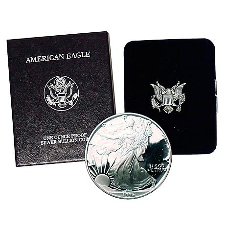 1995 P-Mint Proof Silver Eagle Dollar Coin