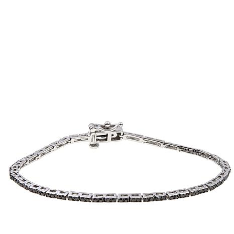 1ctw Colored Diamond Sterling Silver Line Bracelet
