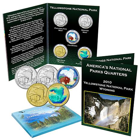 2010 Yellowstone National Park 5-piece Quarter Set