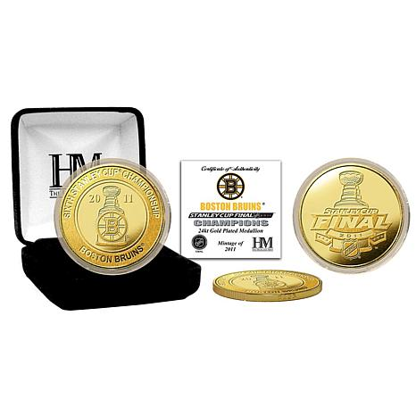 2011 Stanley Cup Champions 24K Gold-Plated Coin