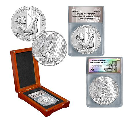 2011-W PR70 ANACS September 11 National Silver Medal