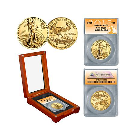 2015 ANACS MS70 $25 Gold Eagle Coin