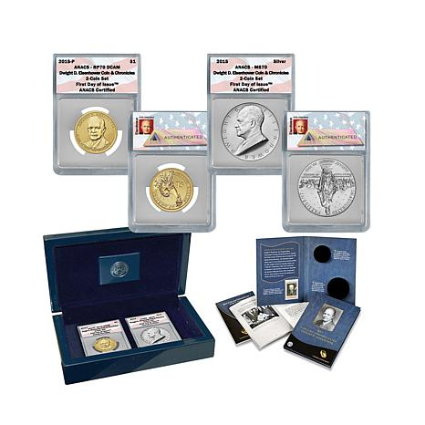 2015 FDOI Dwight D. Eisenhower Coin & Chronicles Set