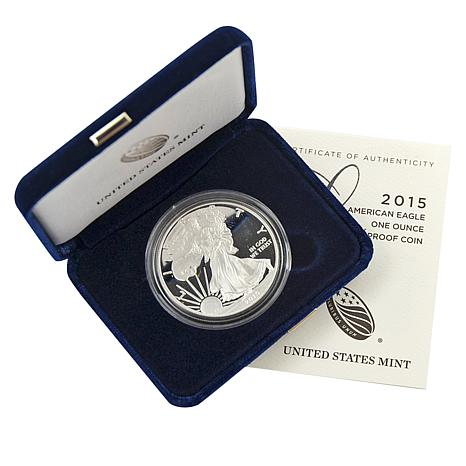 2015 W-Mint Proof Silver Eagle Dollar Coin
