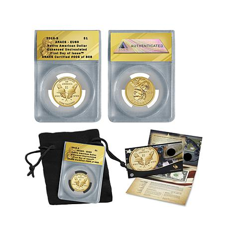 2016 EU69 ANACS FDOI LE 868 American Coin/Currency Set