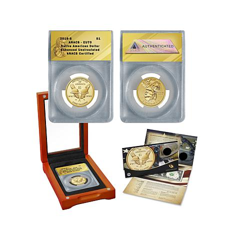 2016 EU70 ANACS Native American Coin and Currency Set
