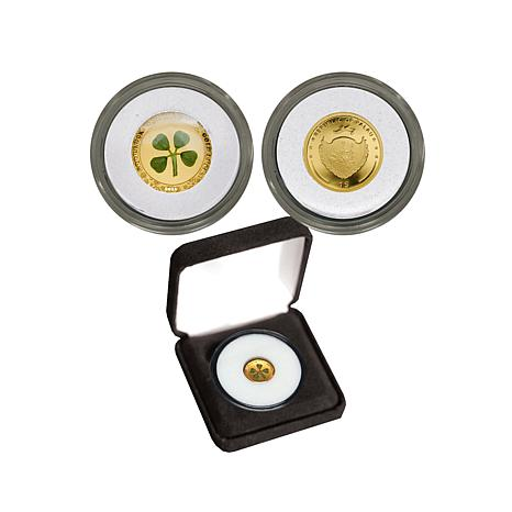 2016 Proof 4-Leaf Clover Palau 99.99% 24K Gold $1 Coin