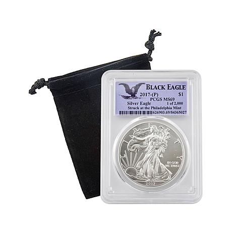 2017 MS69 PCGS Black Eagle Limited Edition Silver Eagle