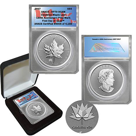 2017 RP70 FDOI $5 Canada Maple Leaf with 150 Privy Mark