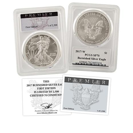 2017 SP70 Satin-Finish PCGS Premier Label Limited Edition Silver Eagle