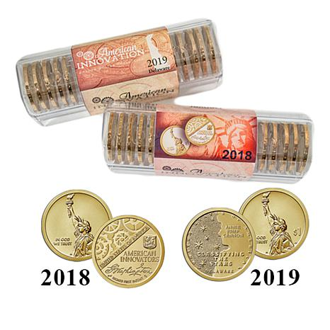 2018 2019 P D First Two American Innovation Coin Rolls Auto